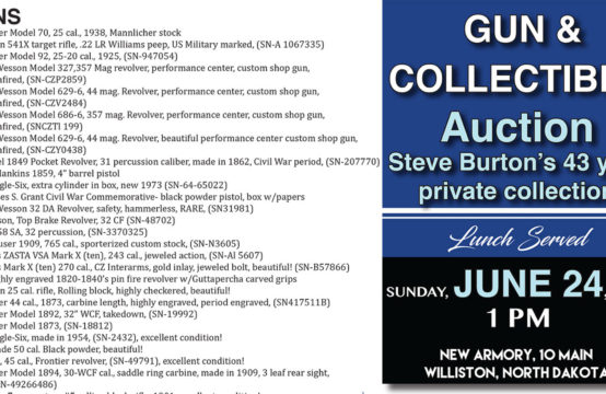 June 24, 2018 &#8211&#x3B; Steve Burton Gun and Collectible Auction