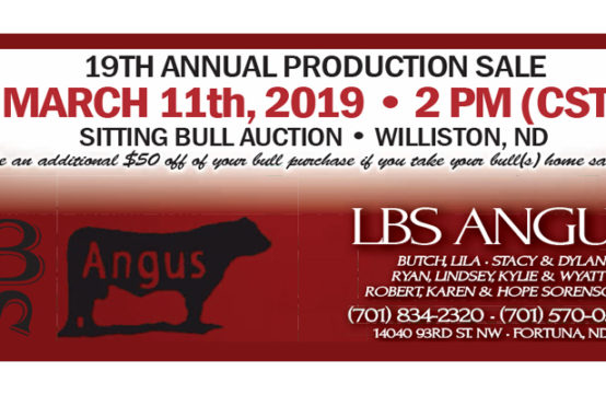 March 11, 2019 &#8211&#x3B; LBS Angus 19th Annual Production Sale